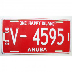 Plaque d Immatriculation Aruba 2006 ( 1272 )