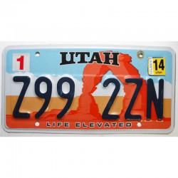 Plaque d Immatriculation USA - Utah 2014 ( 1193 )