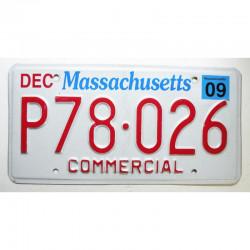 Plaque d Immatriculation USA - Massachusetts 2009 ( 500  )