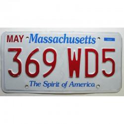 Plaque d Immatriculation USA - Massachusetts ( 324 )