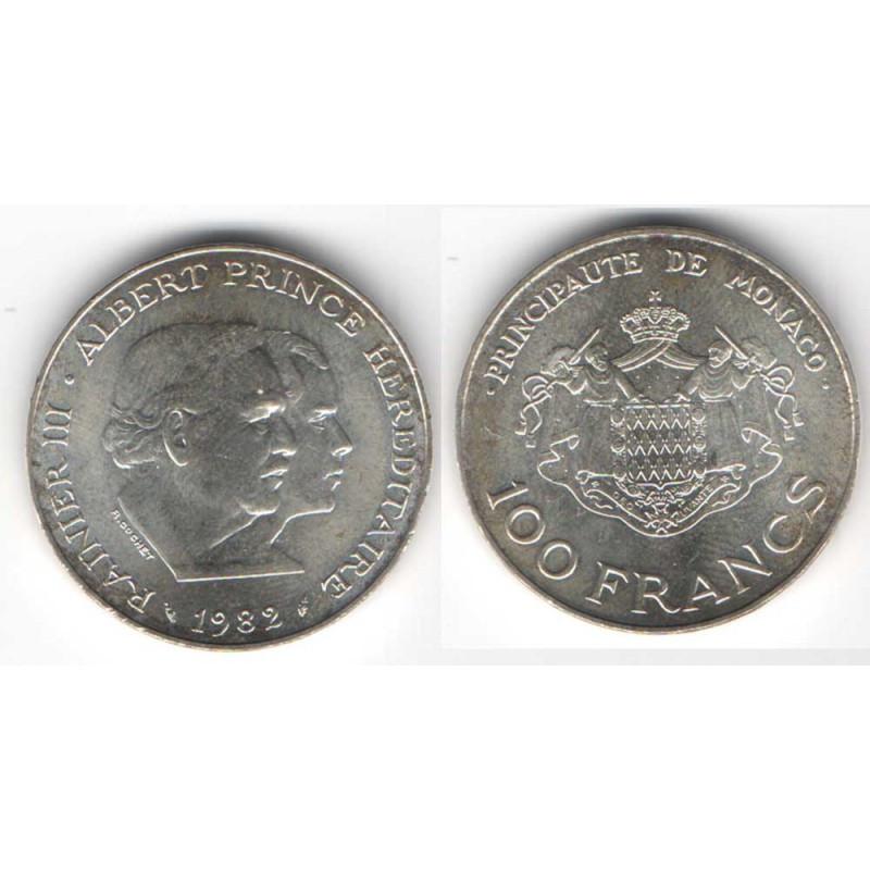 100 Francs Argent SAS Rainier III Monaco 1982