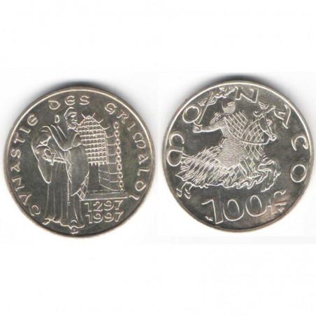 100 Francs Argent SAS Rainier III Monaco 1997