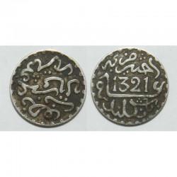 1/2 Dirham argent Maroc 1321 ( 002 )