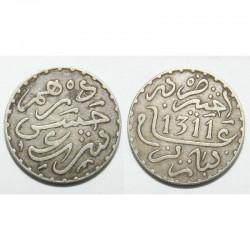 1/2 Dirham argent Maroc 1311