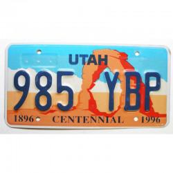 Plaque d Immatriculation USA - Utah ( 1188 )