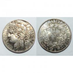 1 piece de 1 franc Ceres Argent 1895 A ( 004 )
