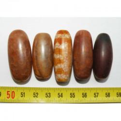 5 perles anciennes du tibet - Dzi ( 008 )