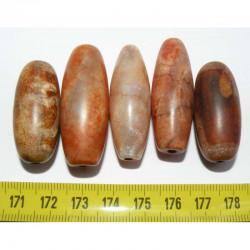 5 perles anciennes du tibet - Dzi ( 026 )