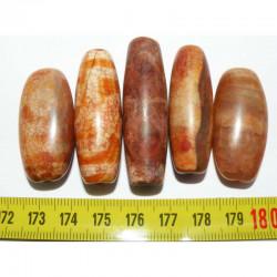 5 perles anciennes du tibet - Dzi ( 015 )