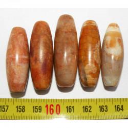 5 perles anciennes du tibet - Dzi ( 003 )