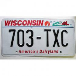 Plaque d Immatriculation USA - Wisconsin ( 539 )