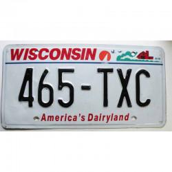 Plaque d Immatriculation USA - Wisconsin ( 538 )