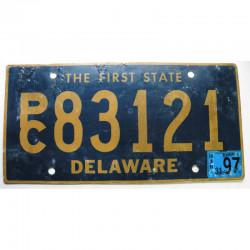 Plaque d Immatriculation USA - Delaware 1997 ( 300 )