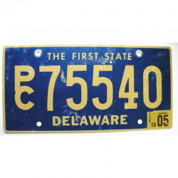 Plaque d Immatriculation USA - Delaware 2005 ( 414 )
