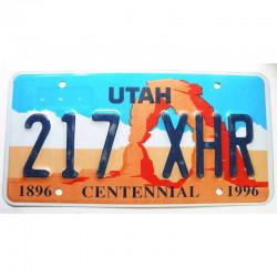 Plaque d Immatriculation USA - Utah - 1996 ( 1192 )