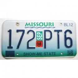 Plaque d Immatriculation USA - Missouri avec vignette ( 267 )