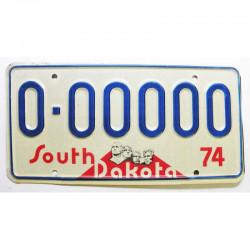 Plaque d Immatriculation USA - South Dakota 1974 ( 605 )