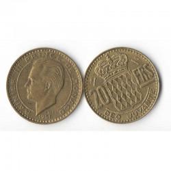 20 Francs 1951 Monaco Rainier III