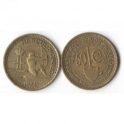 50 centimes credit foncier 1924 Monaco Louis II