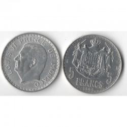 5 Francs 1945 Monaco Louis II