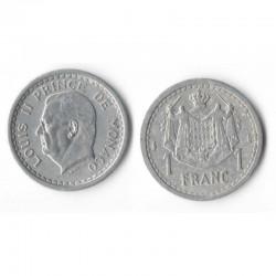 1 Francs 1943 Monaco Louis II