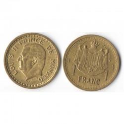 1 Franc 1943 Monaco Louis II