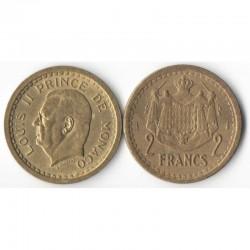 2 Francs 1943 Monaco Louis II