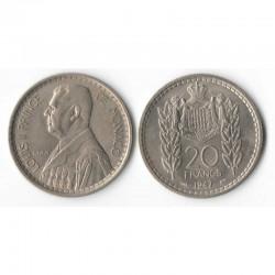 20 Francs 1947 Monaco Louis II