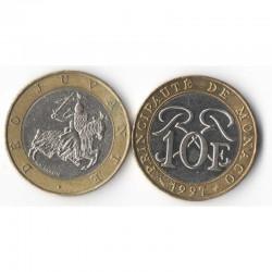 10 Francs 1997 Monaco Rainier III