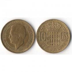 10 Francs 1951 Monaco Rainier III