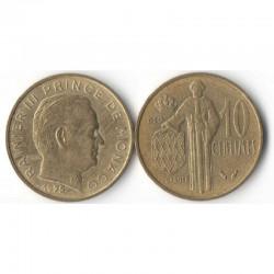 10 cents 1975 Monaco Rainier III