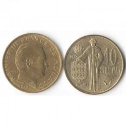 10 cents 1977 Monaco Rainier III