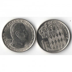 1 Francs 1976 Monaco Rainier III