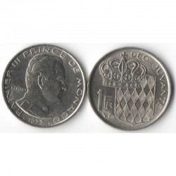 1 Francs 1977 Monaco Rainier III