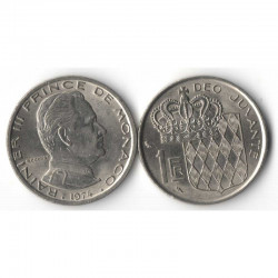 1 Francs 1974 Monaco Rainier III