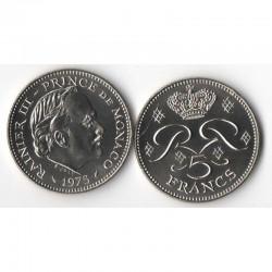 5 Francs 1975 Monaco Rainier III