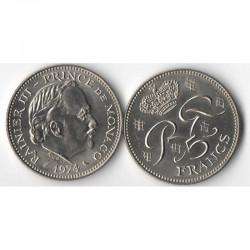 5 Francs 1974 Monaco Rainier III