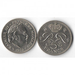 5 Francs 1982 Monaco Rainier III