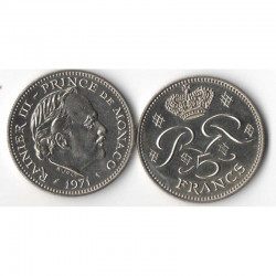 5 Francs 1971 Monaco Rainier III