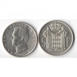 5 Francs 1966 Monaco Rainier III