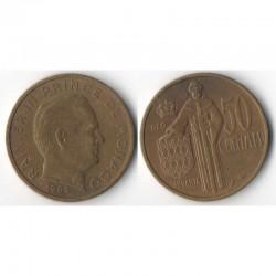 50 cents 1962 Monaco Rainier III