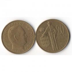 20 cents 1962 Monaco Rainier III