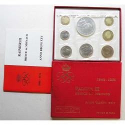 Coffret FDC 8 pieces Monaco 1974