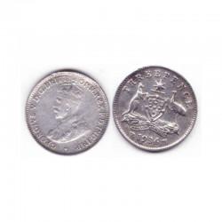 3 pence Australie Argent 1936 ( 001 )