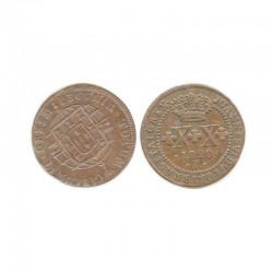 20 Reis Bronze 1820 R Bresil Joannes VI ( 001 )