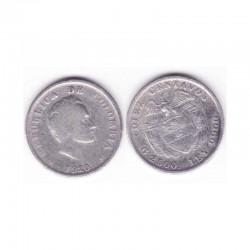 10 cents Colombie Argent 1920 ( 001 )