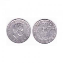 10 cents Colombie Argent 1911 ( 001 )