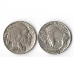 5 cents Nickel - USA Buffalo Indian Head 1936