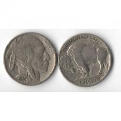 5 cents Nickel - USA Buffalo Indian Head 1937