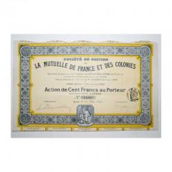 Action Ancienne: mutuelle de france et colonie ( 429 )